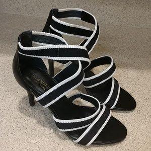 Isaac Mizrahi  Black and White Heels